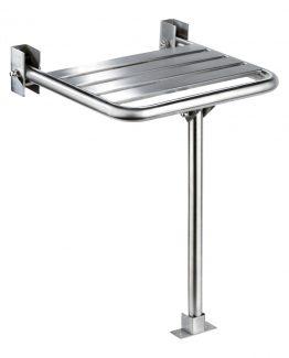 asiento ducha acero inoxidable satinado