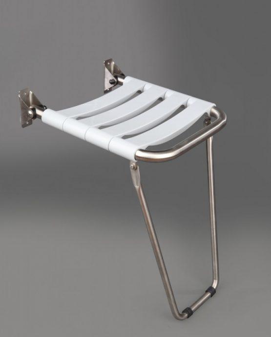 asiento ducha acero inoxidable bandas nylon