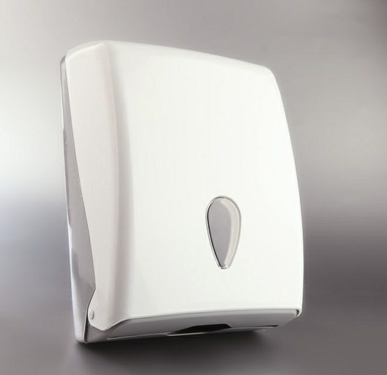 DISPENSADOR DE TOALLAS Z EN ABS BLANCO